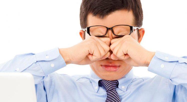 Trockene Augen Bildschirmstress Sehtraining